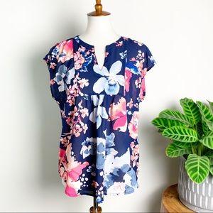 Liz Claiborne | Sheer Floral Top